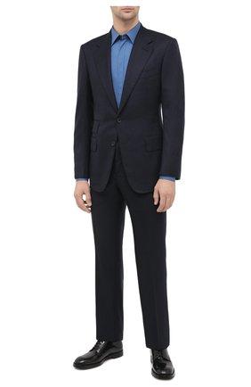 Мужская хлопковая сорочка DOLCE & GABBANA голубого цвета, арт. G5FT0T/FU5NK | Фото 2