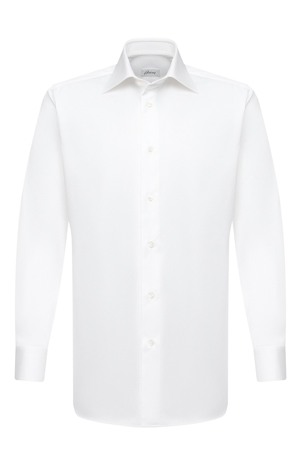 Мужская хлопковая сорочка BRIONI белого цвета, арт. RCA20L/P90C4 | Фото 1