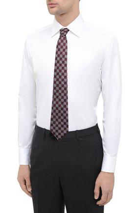 Мужская хлопковая сорочка BRIONI белого цвета, арт. RCA20L/P90C4 | Фото 4