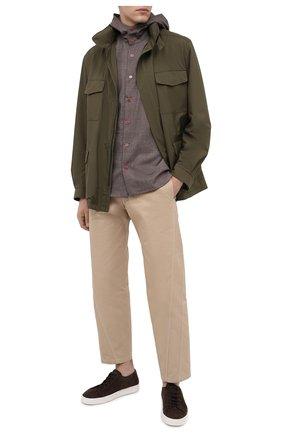 Мужская шерстяная рубашка KITON коричневого цвета, арт. UMCPETEK01X4907 | Фото 2