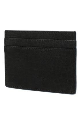 Мужской кожаный футляр для кредитных карт SAINT LAURENT черного цвета, арт. 485631/DM60E | Фото 2