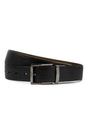 Мужской кожаный ремень TOD'S черного цвета, арт. XCMCQQ201000KH | Фото 1