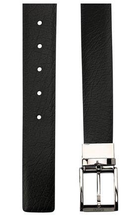 Мужской кожаный ремень TOD'S черного цвета, арт. XCMCQQ201000KH | Фото 2