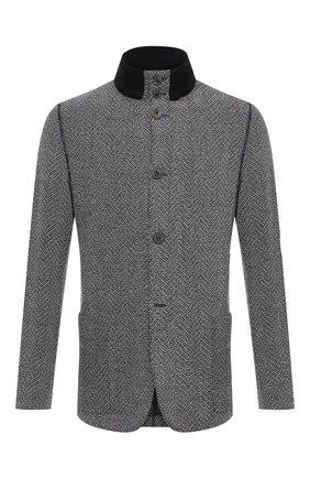 Мужской пиджак из шерсти и кашемира GIORGIO ARMANI серого цвета, арт. 9WGGG09F/T01ZD | Фото 1