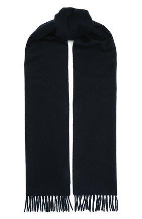 Мужской кашемировый шарф AD56 темно-синего цвета, арт. 64200 | Фото 1