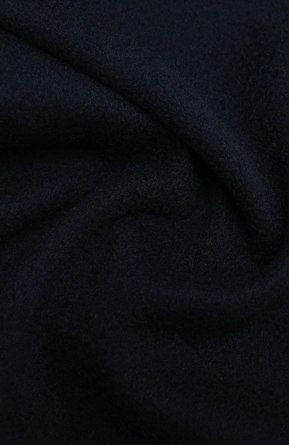 Мужской кашемировый шарф AD56 темно-синего цвета, арт. 64200   Фото 2