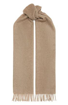 Мужской кашемировый шарф AD56 темно-бежевого цвета, арт. 64200 | Фото 1