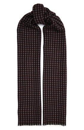 Мужской шерстяной шарф AD56 бордового цвета, арт. 273070 | Фото 1