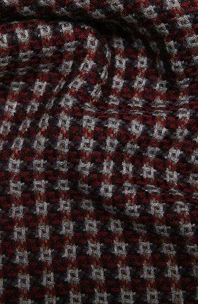 Мужской шерстяной шарф AD56 бордового цвета, арт. 273070 | Фото 2