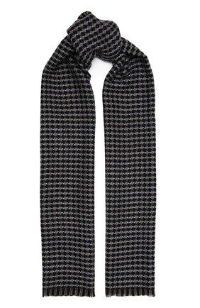 Мужской шерстяной шарф AD56 коричневого цвета, арт. 273070 | Фото 1