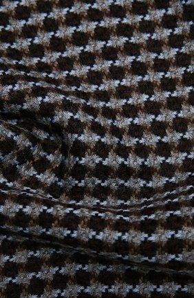 Мужской шерстяной шарф AD56 коричневого цвета, арт. 273070 | Фото 2
