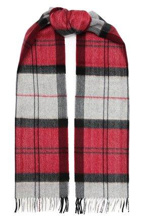 Мужской шарф из шерсти и кашемира AD56 бордового цвета, арт. 624301 | Фото 1