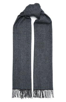 Мужской шарф из кашемира и шерсти AD56 синего цвета, арт. 665702 | Фото 1