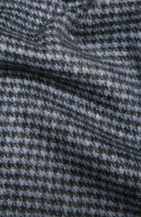 Мужской шарф из кашемира и шерсти AD56 синего цвета, арт. 665702 | Фото 2