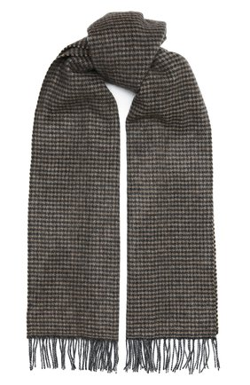 Мужской шарф из кашемира и шерсти AD56 коричневого цвета, арт. 665702 | Фото 1