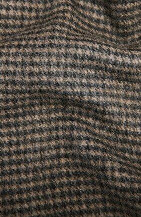 Мужской шарф из кашемира и шерсти AD56 коричневого цвета, арт. 665702 | Фото 2