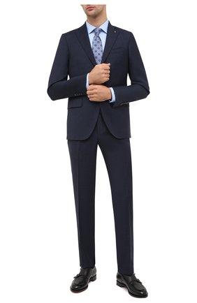 Мужской шерстяной костюм SARTORIA LATORRE синего цвета, арт. A6I7EF Q81274 | Фото 1