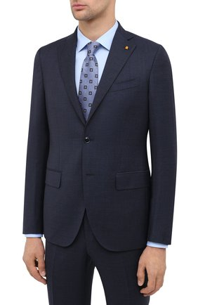 Мужской шерстяной костюм SARTORIA LATORRE синего цвета, арт. A6I7EF Q81274 | Фото 2