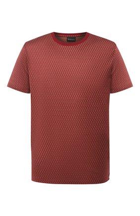 Мужская хлопковая футболка BILLIONAIRE бордового цвета, арт. W20C MTK4512 BTE014N | Фото 1