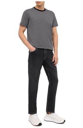 Мужская хлопковая футболка BILLIONAIRE черного цвета, арт. W20C MTK4512 BTE014N | Фото 2