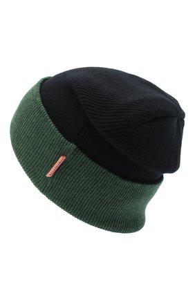 Мужская шерстяная шапка ACNE STUDIOS черного цвета, арт. C40108/M | Фото 2