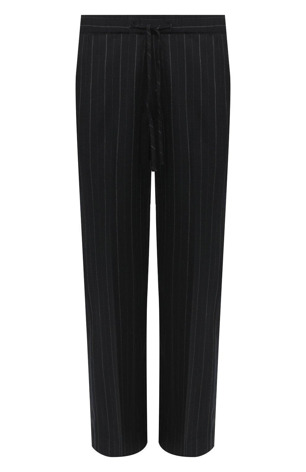 Мужские брюки JUUN.J черного цвета, арт. JC0921P055   Фото 1 (Материал внешний: Шерсть, Синтетический материал; Длина (брюки, джинсы): Стандартные; Случай: Повседневный; Материал подклада: Синтетический материал; Стили: Минимализм)