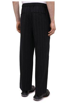 Мужские брюки JUUN.J черного цвета, арт. JC0921P055   Фото 4 (Материал внешний: Шерсть, Синтетический материал; Длина (брюки, джинсы): Стандартные; Случай: Повседневный; Материал подклада: Синтетический материал; Стили: Минимализм)
