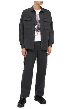 Мужской хлопковые брюки-карго JUUN.J темно-серого цвета, арт. JC0921P523 | Фото 2