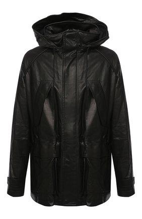 Мужская кожаная куртка JUUN.J черного цвета, арт. JC093ZP615 | Фото 1