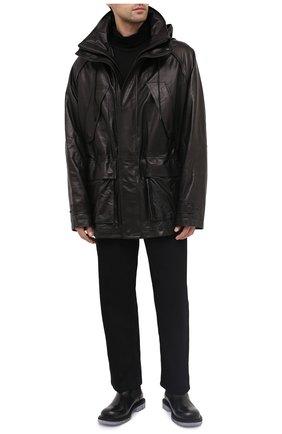 Мужская кожаная куртка JUUN.J черного цвета, арт. JC093ZP615 | Фото 2