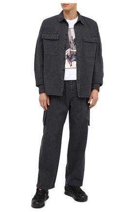Мужская хлопковая рубашка JUUN.J темно-серого цвета, арт. JC0964P103 | Фото 2