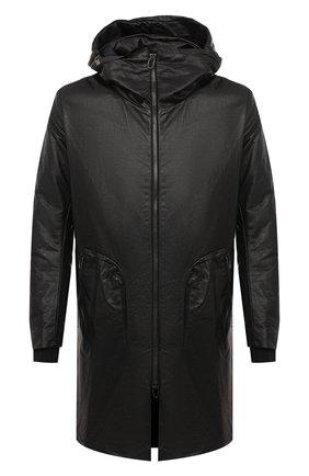 Мужской кожаный плащ DANIELE BASTA черного цвета, арт. DB552X25/PLUT0NE L0NG | Фото 1