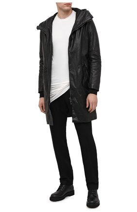 Мужской кожаный плащ DANIELE BASTA черного цвета, арт. DB552X25/PLUT0NE L0NG | Фото 2