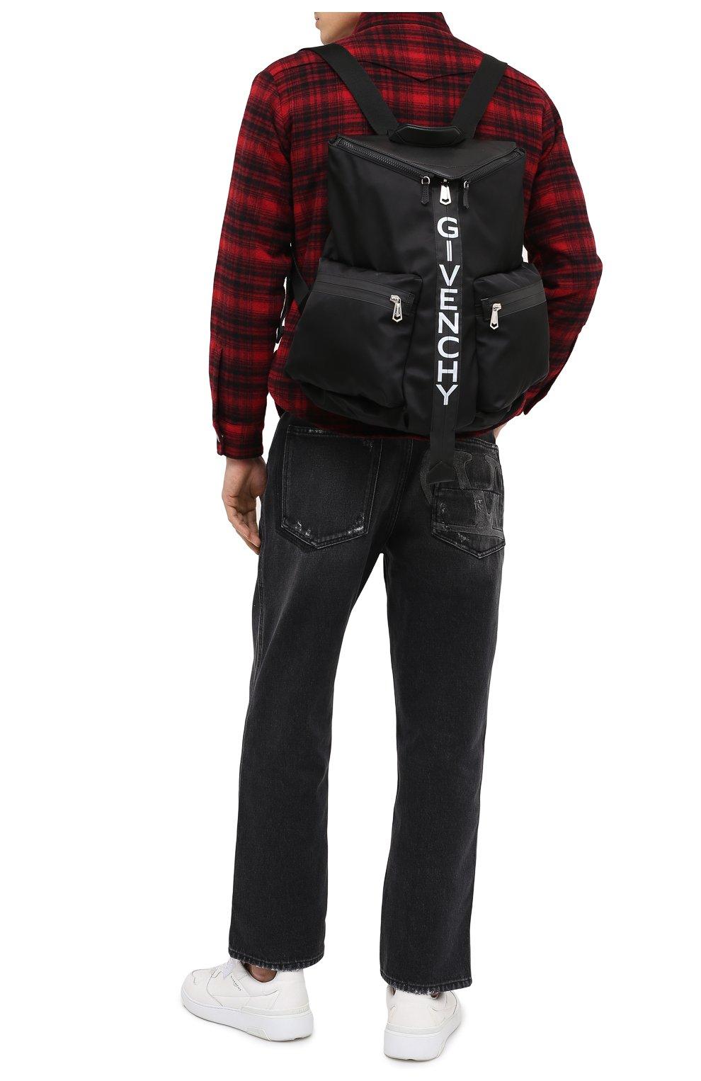 Мужской комбинированный рюкзак spectre GIVENCHY черно-белого цвета, арт. BK507EK0YM   Фото 2