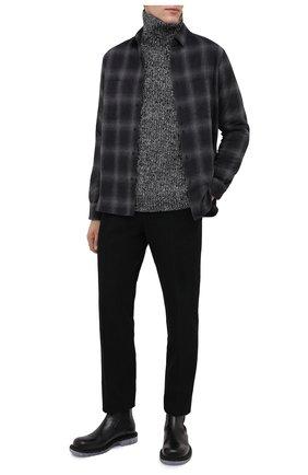 Мужская хлопковая рубашка RTA темно-серого цвета, арт. MF0574-7160BKPD | Фото 2
