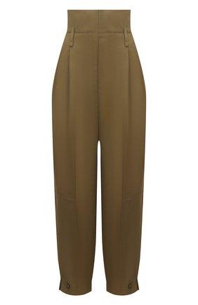 Женские брюки из вискозы GIVENCHY хаки цвета, арт. BW50CN11VS | Фото 1