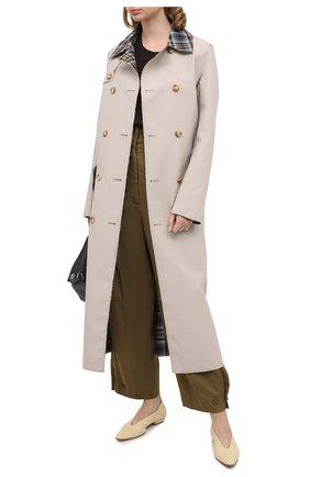 Женские брюки из вискозы GIVENCHY хаки цвета, арт. BW50CN11VS | Фото 2