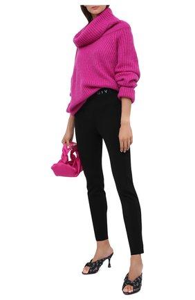 Женские брюки из вискозы GIVENCHY черного цвета, арт. BW50MJ4Z7P | Фото 2