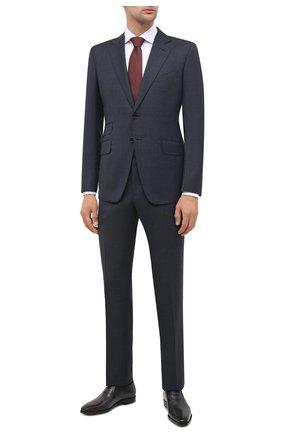 Мужской шерстяной костюм TOM FORD темно-синего цвета, арт. 811R51/21YA4C | Фото 1