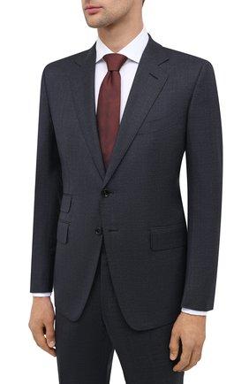 Мужской шерстяной костюм TOM FORD темно-синего цвета, арт. 811R51/21YA4C | Фото 2