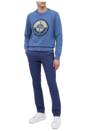 Мужской хлопковые брюки POLO RALPH LAUREN синего цвета, арт. 710644988 | Фото 2