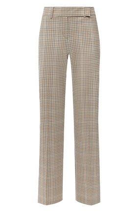 Женские шерстяные брюки MICHAEL MICHAEL KORS бежевого цвета, арт. MU03HBSERF | Фото 1