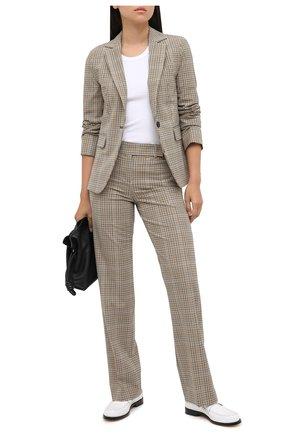 Женские шерстяные брюки MICHAEL MICHAEL KORS бежевого цвета, арт. MU03HBSERF | Фото 2