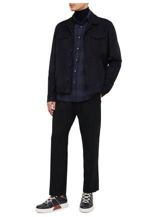 Мужская хлопковая рубашка TOM FORD темно-синего цвета, арт. 8FT853/94MEKI | Фото 2