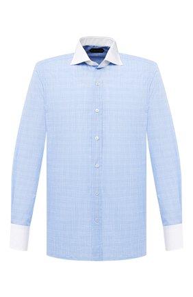 Мужская хлопковая сорочка TOM FORD голубого цвета, арт. 8FT214/94SWAX | Фото 1