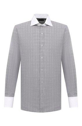 Мужская хлопковая сорочка TOM FORD серого цвета, арт. 8FT212/94SWAX | Фото 1