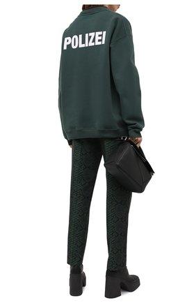 Женский хлопковый свитшот VETEMENTS зеленого цвета, арт. UAH21TR529 1601/W   Фото 2