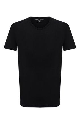 Мужская хлопковая футболка DEREK ROSE черного цвета, арт. 3052-RILE001 | Фото 1