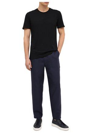 Мужская хлопковая футболка DEREK ROSE черного цвета, арт. 3052-RILE001 | Фото 2