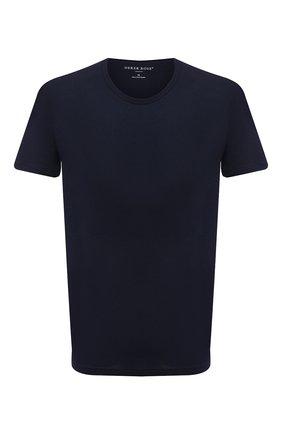 Мужские хлопковая футболка DEREK ROSE синего цвета, арт. 3052-RILE001   Фото 1